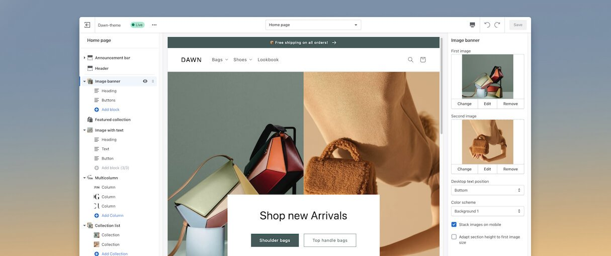 Shopify 2.0 store